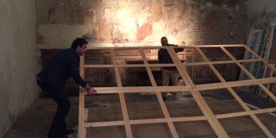 Antico refettorio Bertarelli-allestimento mostra Luci del Sud