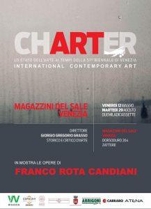 Le opere di Franco Rota Candiani alla mostra Charter-lo stato dell'arte ai tempi della 57 Biennale di Venezia